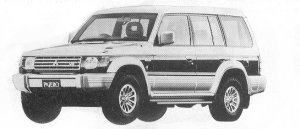 Mitsubishi Pajero MID ROOF WIDE EXCEED 1992 г.