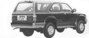 Toyota Hilux Surf WAGON 2400 DIESEL TURBO 2DOOR SSR-X 1992 г.