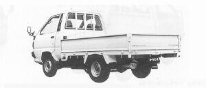 Toyota Liteace Truck SUPER SINGLE J/L STEEL DECK 2.0DIESEL DX 1991 г.
